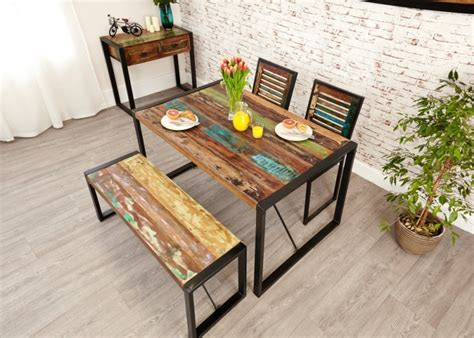 reclaimed wood dining set buy baumhaus chic reclaimed wood small dining set