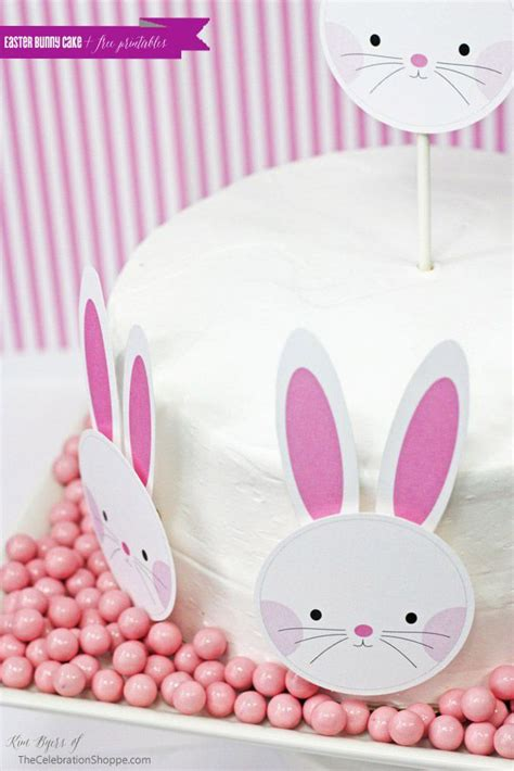 easy easter bunny cake free printable templates cakes