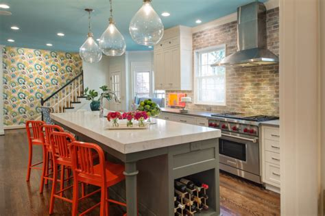 Bright Orange Bar Stools by 18 Brilliant Kitchen Bar Stools That Add A Serious Pop Of