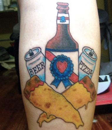 beer tattoo the bumbler