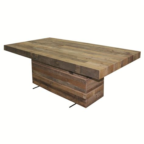 Pedestal Rectangle Dining Table Four Tahoe Dining Table With Rectangular Pedestal Base Olinde S Furniture