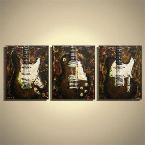 wall decor guitar guitar painting music wall art guitar wall decor brown