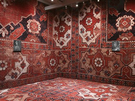 designboom rug rudolf stingel covers palazzo grassi s interior in carpet