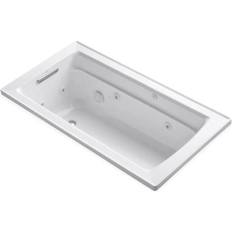 kohler drop in bathtubs kohler archer 5 ft acrylic rectangular drop in whirlpool