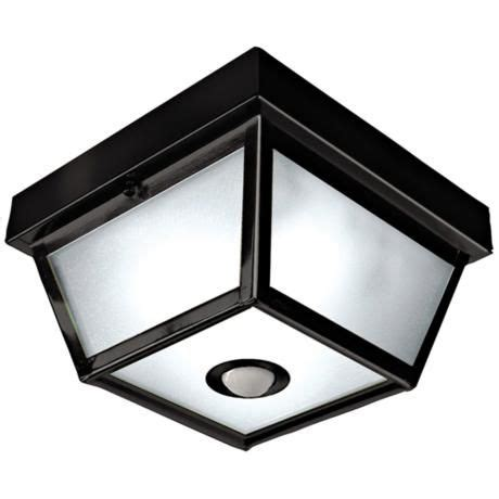 Outdoor Ceiling Sensor Light Benson Black 9 1 2 Quot Wide Motion Sensor Outdoor Ceiling Light Squares Ceilings And Outdoor