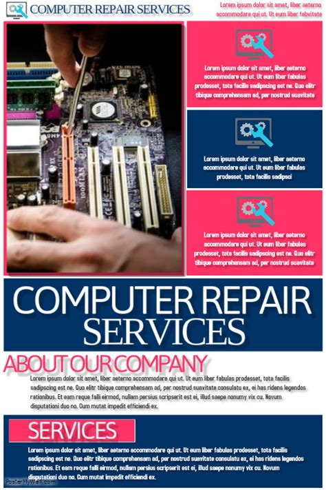 computer repair template postermywall
