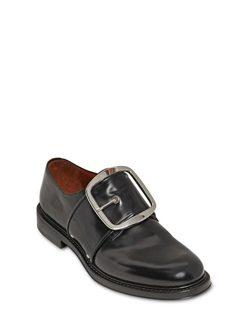 givenchy mens sandals givenchy matte brushed leather buckle shoe in metallic for