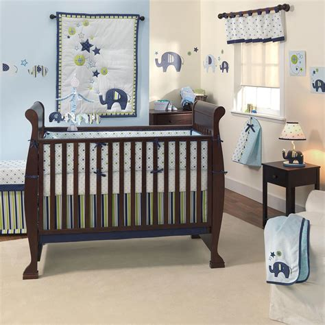 Elephant Crib Bedding Boy Baby Nursery Decor Exciting Various Baby Elephant Nursery Decoration Appealing Models