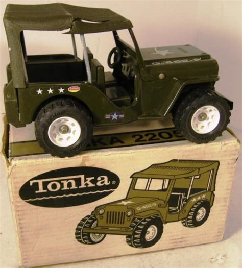 tonka army jeep vintage tonka us army jeep 2205 boxed severn beach