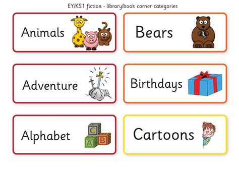 printable book labels ks2 teacher s pet library book corner fiction labels free