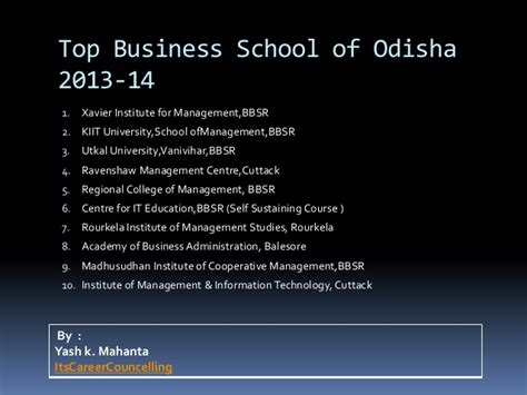 Top Mba Schools 2013 by Top Business School Of Odisha 2013 14