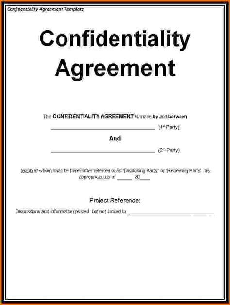non disclosure agreement word template non disclosure agreement template wordreference letters