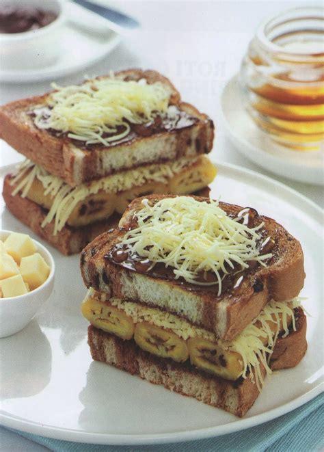 resep masakan indonesia roti bakar pisang madu kraft