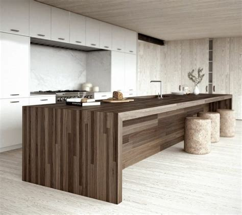 ilot central cuisine bois cuisine minimaliste de couleur blanche 25 id 233 es pour vous