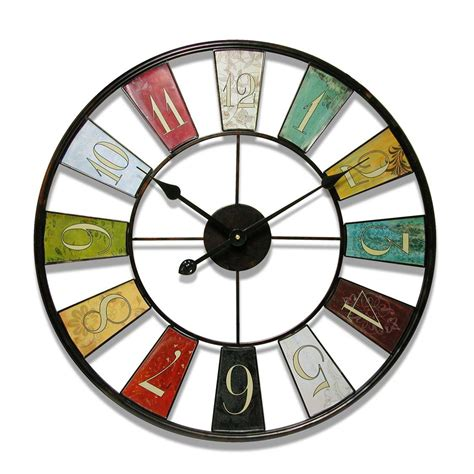 colorful wall clocks funky wall clocks that are the wall unique designs
