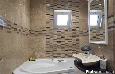 decorare baie apartament spectaculos amenajat cu travertin epiatra ro
