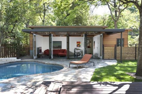 House With Guest House Travis Heights Guest House Modern Pool Austin By