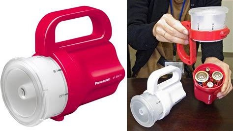 panasonic s emergency torch accepts whatever batteries you
