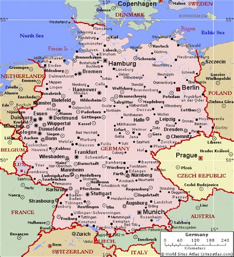map of germany with cities free printable maps MEMES