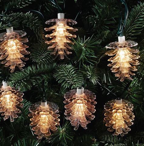 indoor outdoor pinecone light strand christmas