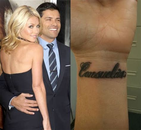 kelly ripa wrist tattoo ripa tattoos tattooed