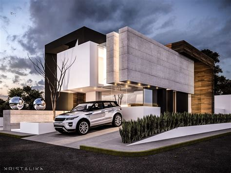 moderne design beam house architecture modern facade contemporary