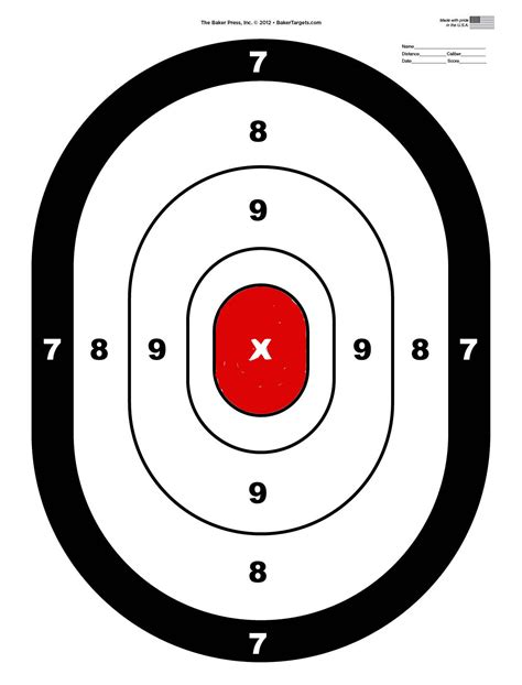 free printable targets 8 5 x 11 shooting targets gun range shooting target guns pinterest