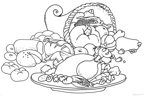 coloring pages of thanksgiving images thanksgiving food coloring pages free az coloring pages