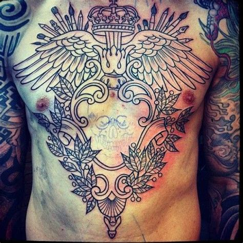 tattoo cross pieces 387 best chest piece tattoos images on pinterest chest