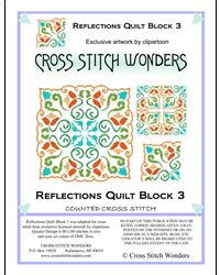 Mrp Home Design Quarter Quot Reflections Quilt Block 3 Quot By Cross Stitch Wonders