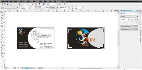 desain kartu nama sederhana seni itu indah tutorial desain kartu nama sederhana