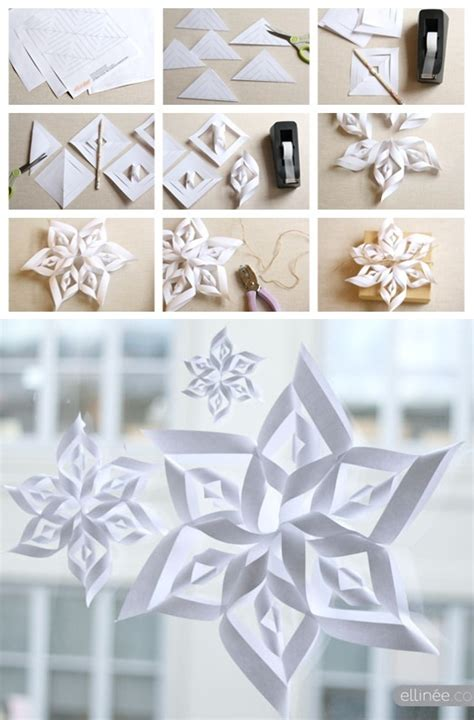 3d Decorations To Make Out Of Paper - best 25 paper snowflake template ideas on