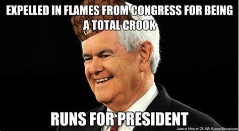 Newt Gingrich Meme - scumbag newt gingrich memes quickmeme