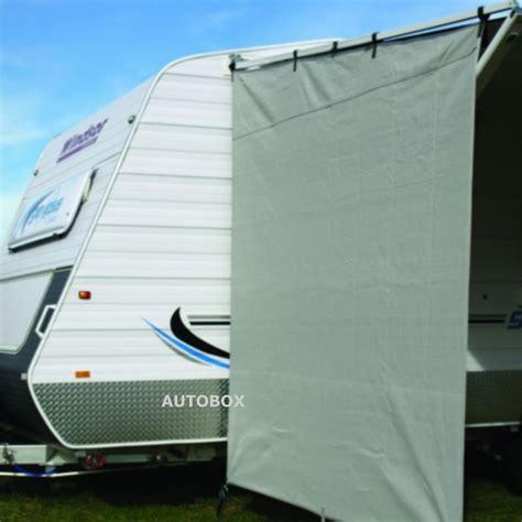 shade cloth awnings for caravans camec caravan privacy screen end wall 2100 x 2050 sun