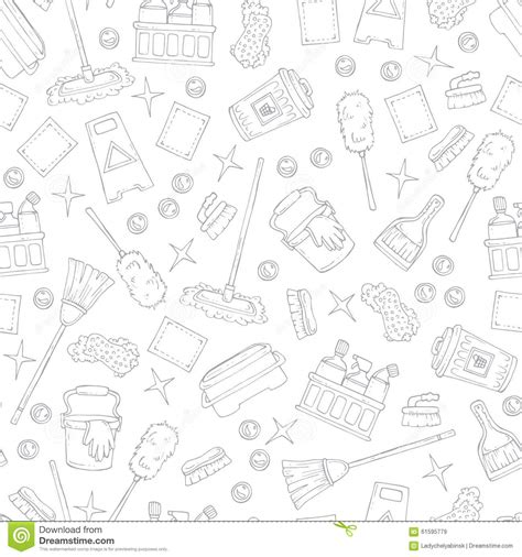 design pattern service pattern on the theme of cleaning services company on white