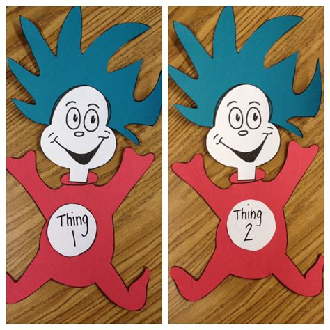 think color thing 1 and thing 2 craft apples and abc s