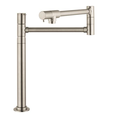 Pot Filler Kitchen Faucet Shop Hansgrohe Hg Kitchen Steel Optik Pot Filler Kitchen Faucet At Lowes
