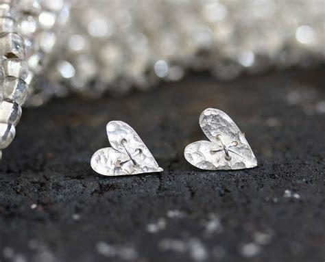 Handmade Silver Stud Earrings - handmade silver sewn stud earrings by jemima lumley