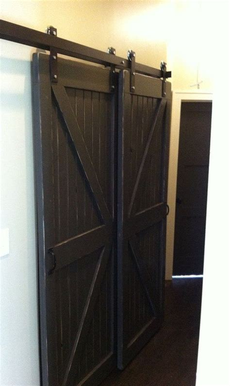 Barn Door Bypass Track Bypass Sliding Barn Door Hardware By Rusticainnovations This Is What I Want For The