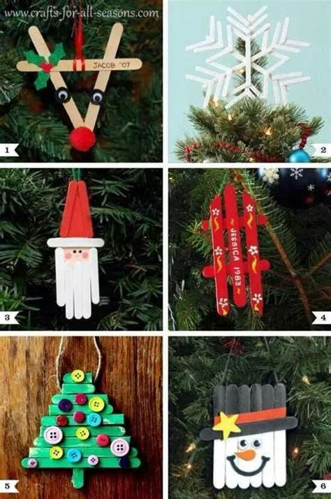 popsicle stick christmas ornaments christmas pinterest