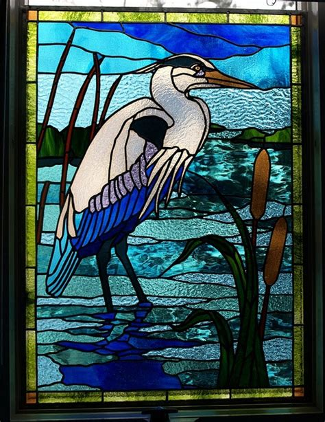 stained glass pattern blue heron blue heron window stained glass patterns pinterest