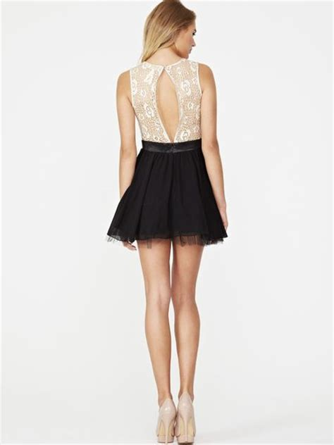 Dress Guess 2in1 lace 2in1 dress in black