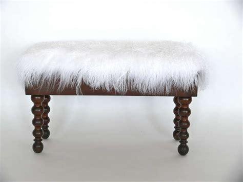 mongolian fur bench mongolian fur piano bench at 1stdibs