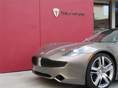 Tesla Motors Los Angeles Image 2012 Fisker Karma Outside Tesla Motors Dealership