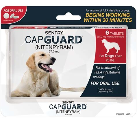 tick and flea pills for dogs sentry 174 capguard 174 flea tablets for dogs 25 lbs 6 pack healthypets