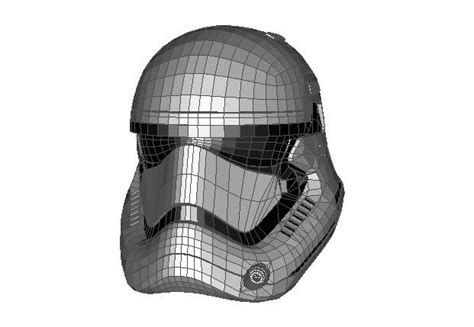 Stormtrooper Papercraft Helmet - wars the awakens stormtrooper helmet ver 3