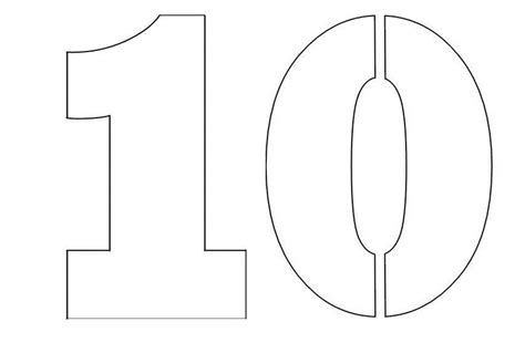 number template numbers free coloring pages