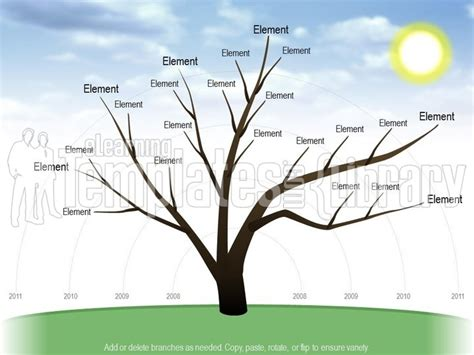 powerpoint tree diagram graphic power point background