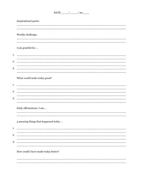 The 5 Minute Journal Template Google Search More Bullet Journaling Pinterest Journal 5 Minute Journal Template