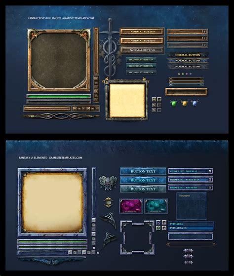 design game in c fantasy game ui by karsten on deviantart